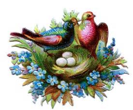 Victorian Birds and Flowers Clip Art