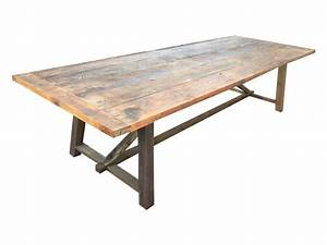 1039 salvaged reclaimed wood outdoor dining table chairish for Barnwood outdoor table