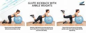 Glute kickback with ankle weights! Products used; BOSU ...