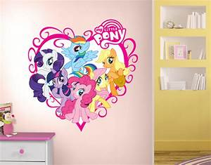 pretty my little pony bedroom on rainbow dash peel and