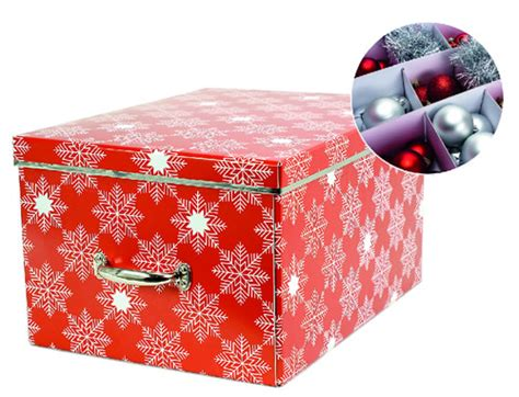 store cardboard christmas decorations storage box