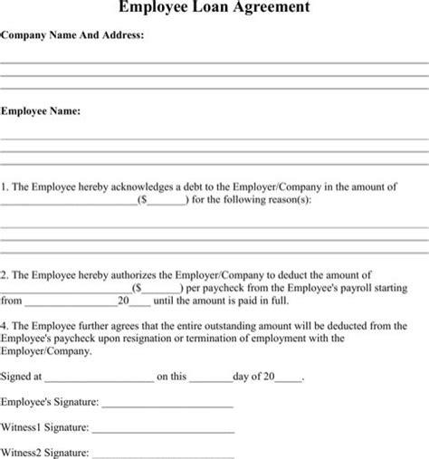 employee loan agreement cash flow statement statement