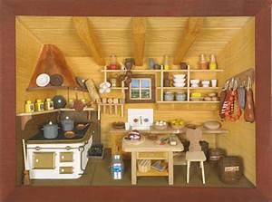 3d wandbild kuche lasiert 30 x 22cm volkskunstshop for Wandbild küche