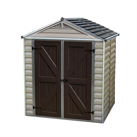 rubbermaid garden sheds home depot rubbermaid 5 ft x 6 ft big max plastic shed 1967672