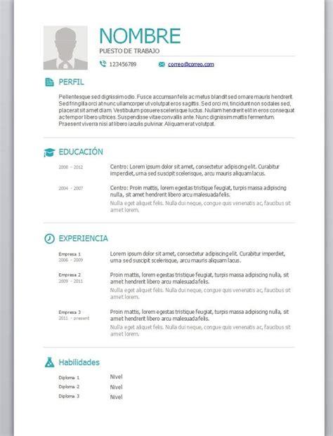 De Cv Word by Modelos De Curriculum Vitae En Word Para Completar