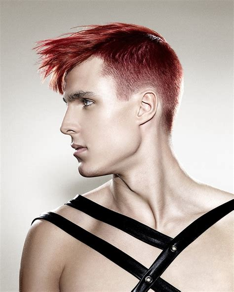 messy punk hairstyles for men