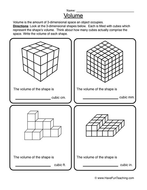 36 5th grade volume worksheets volume worksheets