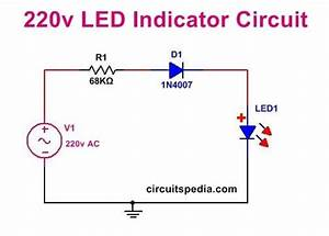 Led Power Indicator Circuit For 230v
