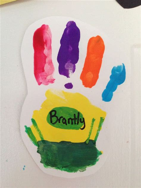 back to school art projects preschool back to school handprint a box of crayons toooo 615