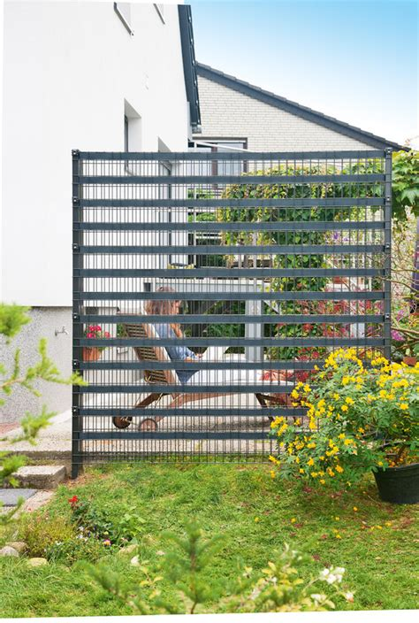Sichtschutz Garten Metall by Sichtschutzzaun Metall Selbst De
