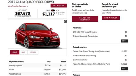 Alfa Romeo Price Range by The Most Expensive 2017 Alfa Romeo Giulia Is 87 670