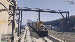 GTA 5 -Freight Train- East Los Santos TrainRoute [FULL ...