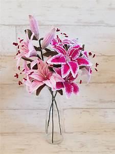 Crochet Stargazer Lily And Pinktiger Lily Flower Pattern