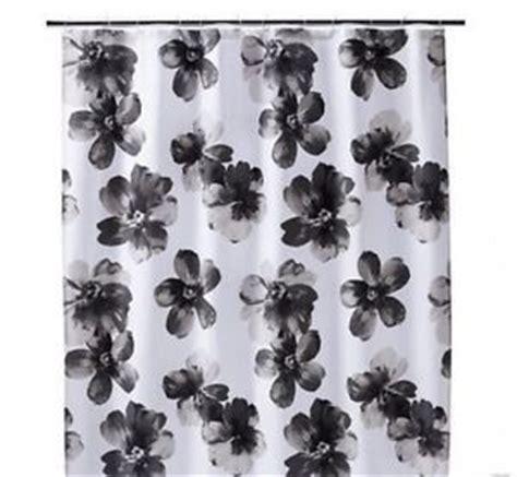 Black And White Drapes At Target - home threshold target shower curtain black white gray