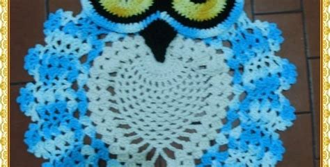 photo tutorial beautiful crochet owl rug bathroom set