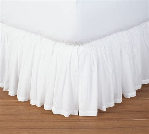 Pottery Barn Bed Skirts by Voile Bed Skirt Traditional Bedskirts Sacramento