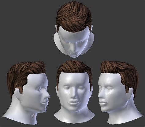 upcomb hair style  male model opengameartorg