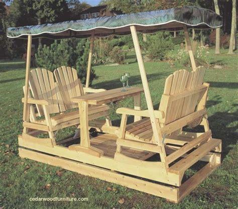 Double Outdoor Glider  The Log Home Neighborhood