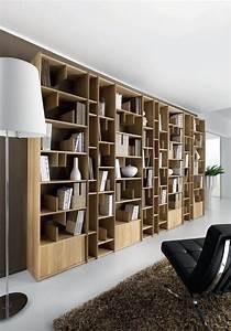 Bibliothèque Murale Bois : biblioth que murale en bois espace domus arte deco ~ Premium-room.com Idées de Décoration