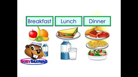 breakfast lunch dinner level  english lesson