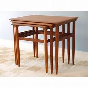 Table Gigogne Scandinave : table gigognes meuble scandinave la maison retro ~ Teatrodelosmanantiales.com Idées de Décoration