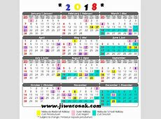 Kalender Cuti Umum dan Takwim Cuti Sekolah 2018