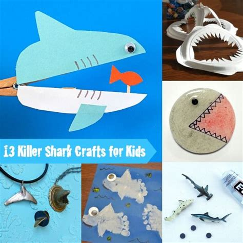 13 shark crafts for diy creative ideas 850 | 23aa01f81eda721abdb6531f189221e5