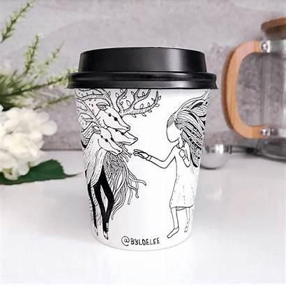 Cup Drawn Hand Coffee Loe Lee Ll