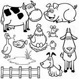 Farm Animals Coloring Pages Barnyard Animal Cartoon Barn Adults Illustration Vector Colouring Pdf Printable Sheets Awesome Getcolorings Andersson Charlotte Books sketch template