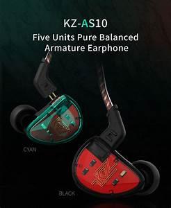 Kz As10 5ba Drive Unit In Ear Earphone 5 Balanced
