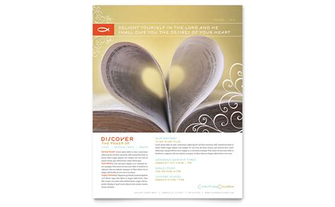 christian church religious flyer template word publisher