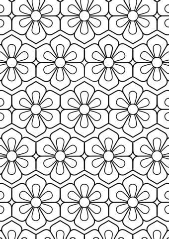 Flower Pattern coloring page | Free Printable Coloring Pages