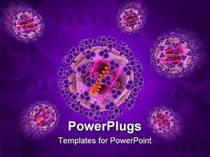 3d rendered close up of some isolated hi viruses With virus powerpoint template free download