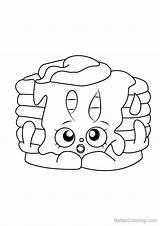 Pancake Coloring Shopkins Pamela Printable sketch template