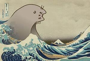 The Great Pusheen off Kanagawa : pusheen