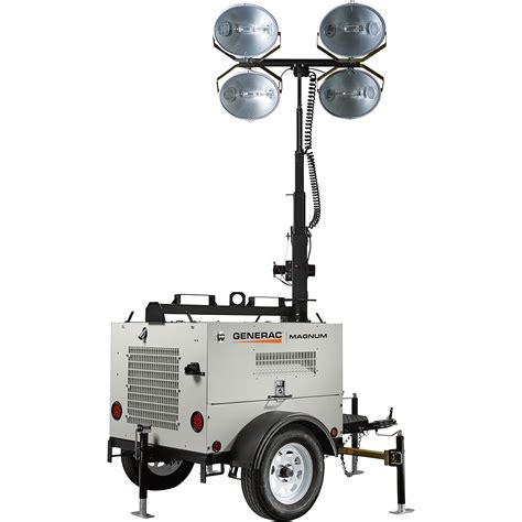 magnum light towers generac magnum mlt4060k mobile light tower 6000 watts