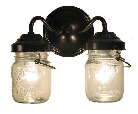 Antique Bathroom Vanity Lights by Vintage Clear Canning Jar Sconce Light Antique