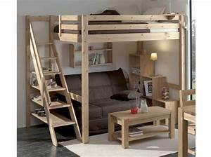 Lit Mezzanine Double : 60 lits mezzanine pour gagner de la place elle d coration ~ Premium-room.com Idées de Décoration