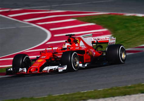 vettel sets  pre season test benchmark speedcafe