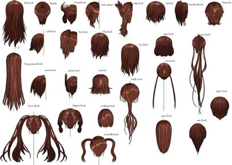 female hairstyle angles  heart  anime girl