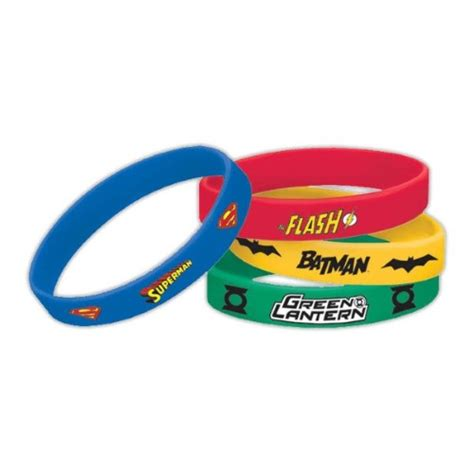 monster jam truck party supplies justice league wrist band favors x 4 kids themed party