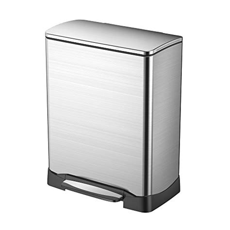 Trash Can 9 Inches Wide by Eko 92906 1 Dual Compartment Trash Can And Recycler