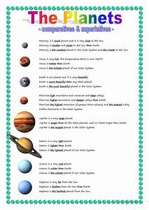 The Planets - comparative & superlative worksheet - Free ...