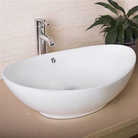 Modern Bathroom Vessel Sinks by Details About Oval Egg Porcelain Ceramic Bathroom Faucet