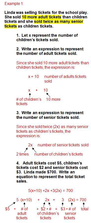 Writing Algebraic Expressions From Word Problems Practice  Algebra Word Problems And Writing