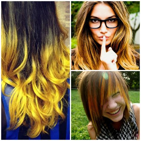 Brown Hair With Yellow Highlights by Http Yourhaircolors Wp Content Uploads 2015 07