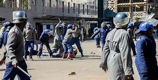 The United States said Friday that it would refuse entry to Zimbabwe's security minister as it voiced alarm over the government's crackdown on protests and the opposition…