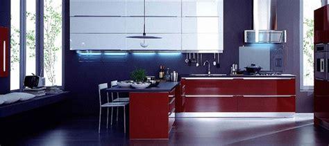 veneta cucine blue  red kitchen interior design ideas
