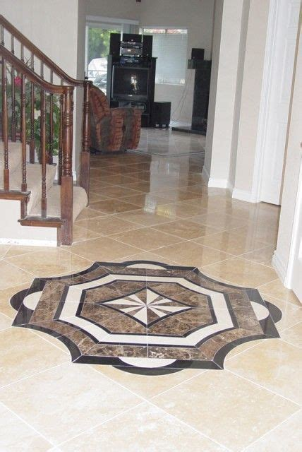 Ceramic, marble or travertine floor medallions so pretty