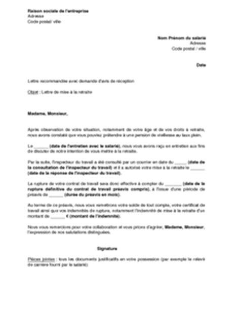 modele lettre depart retraite carriere longue exemple lettre de d 233 part en retraite contrat de travail 2018